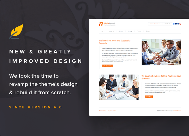 Media Consult - Business WordPress Theme Download