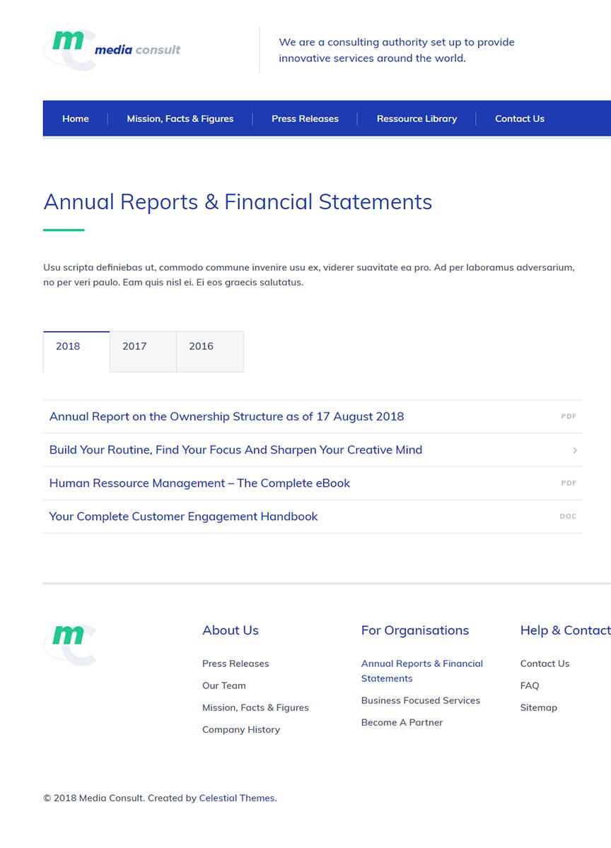 Minimal Reports